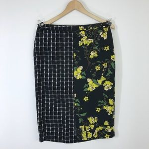 Who what wear two patterned pencil skirt
